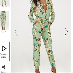 Green floral co-ord set